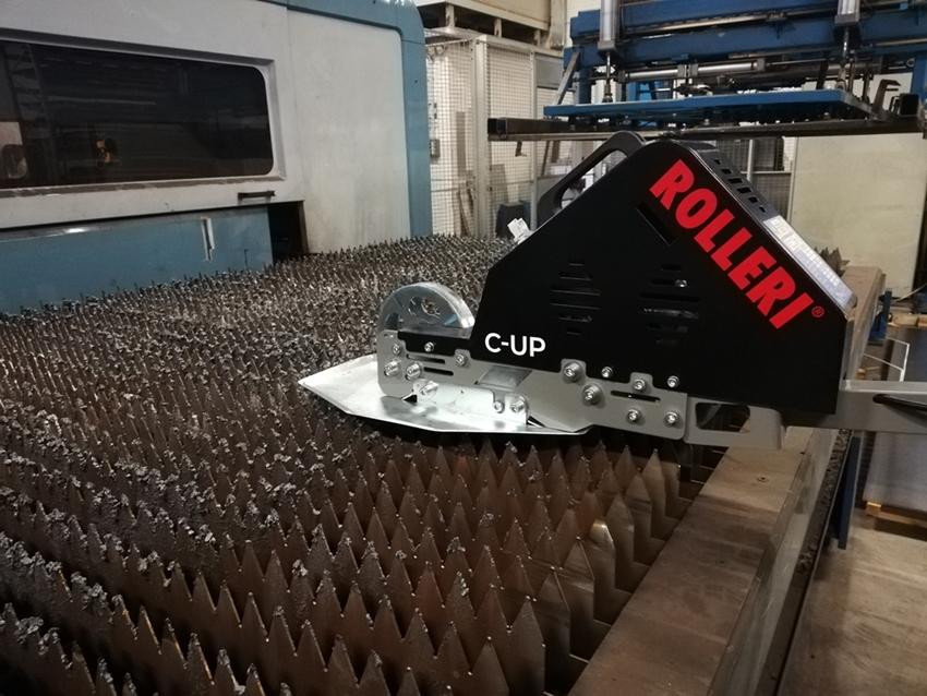 Rolleri-C-Up curatare masa masini laser de zgura